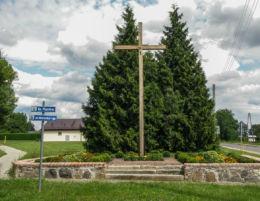 Krzyż przydrożny przy ulicy Warszawskiej i Mieszka I. Mieszkowice, powiat gryfiński.