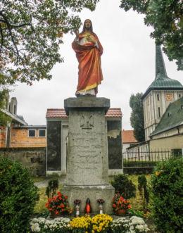 Figura Jezusa Chrystusa na ulicy Krakowskiej. Szczeci, Szczecin.