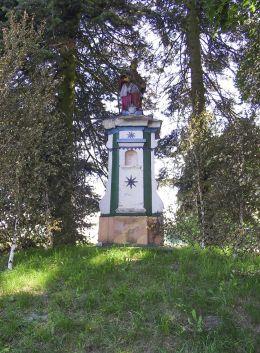 Zabytkowa figura św.Jana Nepomucena. Marcinkowice, gmina Tuczno, powiat wałecki.