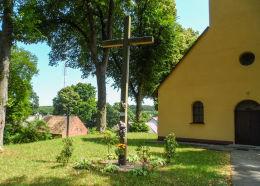 Krzyż przydrożny. Hanki, gmina Mirosławiec, powiat wałecki.