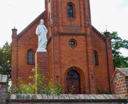 Figura Chrystusa na cokole Nakielno, gmina Wałcz, powiat wałecki.