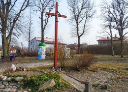 Krzyż przydrożny. Ostrowiec, gmina Wałcz, powiat wałecki.